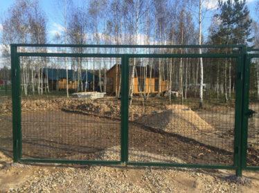 3d забор с распашными воротами