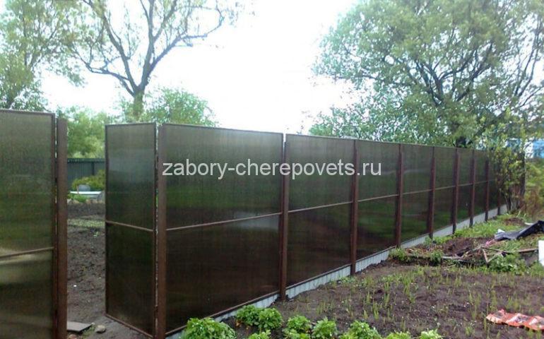 изготовление заборов из поликарбоната в Череповце