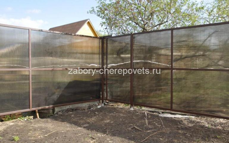 забор из поликарбоната в Череповце