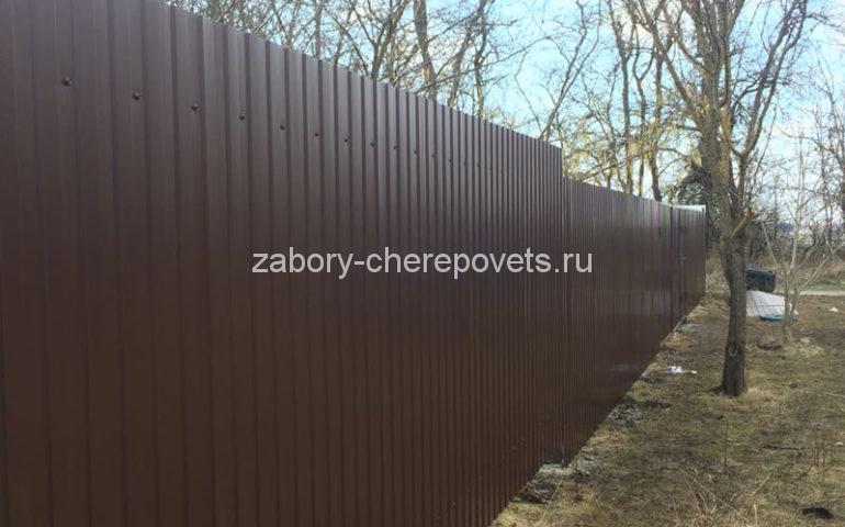 забор из профлиста в Череповце